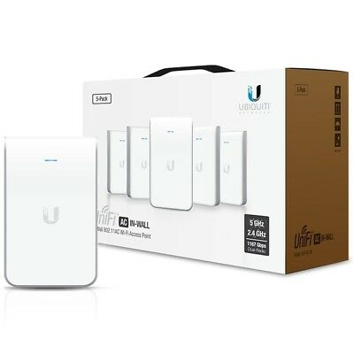 Ubiquiti UniFi AC In-Wall 5-pack AP UAP-AC-IW 800+ Mbps Hots