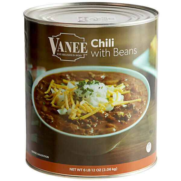 (#10 Can) Bulk Wholesale Canned Chili with Beans - Made in USA