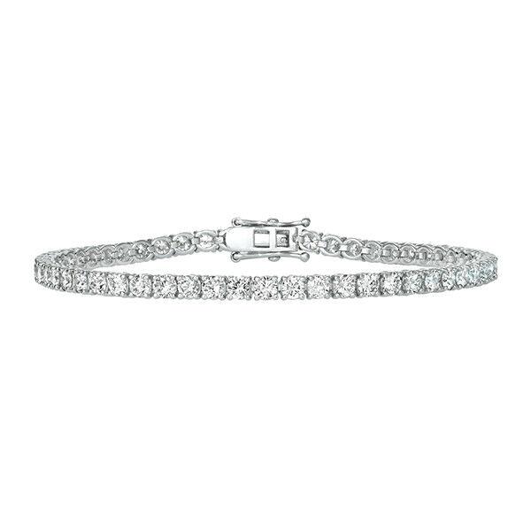 2.00 CT Natural Diamond Tennis Bracelet G-H SI 14K White Gold 7'' 84 stones