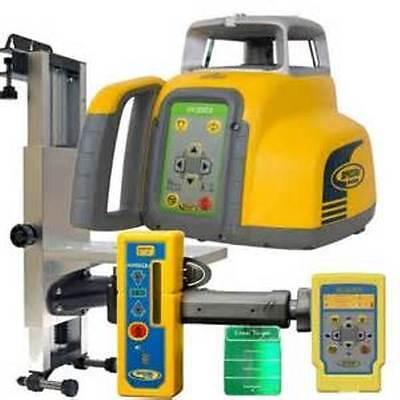 Spectra Laser Hv302g-2 Green Beam Interior Laser Level Whr150u Receiver 23462