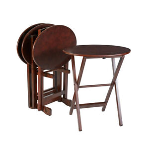 Solid wood folding side tables from Bombay & Co