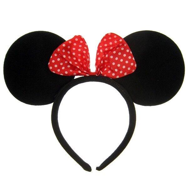 Minnie Mouse Ohren Haarreif mit Schleife Maus Ohren Fasching Karneval NEU