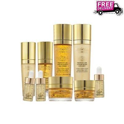 BERGAMO Luxury Gold Skin Care 9 Set Gold Ginseng Brightening Christmas Gift Set