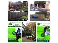 Gardening, gardener, tree surgeon , paving , concrete , fencing