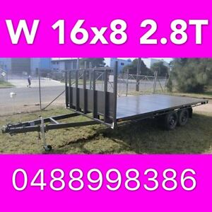 16x8 table top tandem trailer flatbed extra heavy duty 2800kg ATM South Windsor Hawkesbury Area Preview
