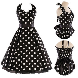 FLOWER SWING DRESS PARTY PROM DRESS ROCKABILLY PIN UP RETRO VINTAGE 1950's VTG