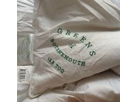 Greens bedding double duck down feathers duvet 13.5 £10