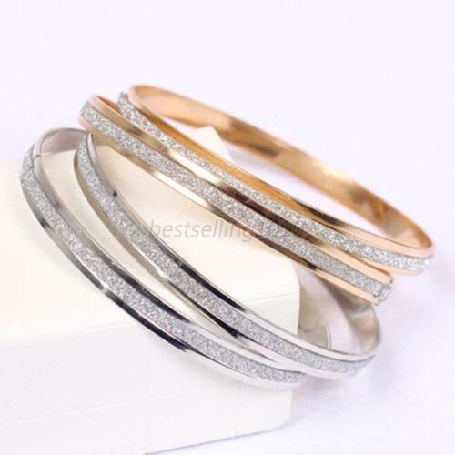 Charming Women's Polished Stainless Steel Womens Girls Bracelet Bangle Gift B76