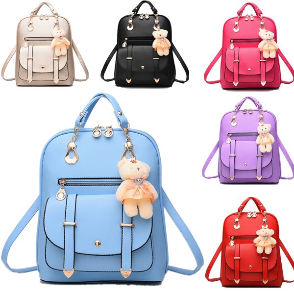 Women Betrothed School PU Leather Shoulder Bag Backpack Travel Rucksack Purse Bookbag