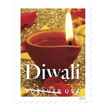 100 (5 x 20) The Diwali USPS Forever First Class Postage Stamps SHIP FROM USA