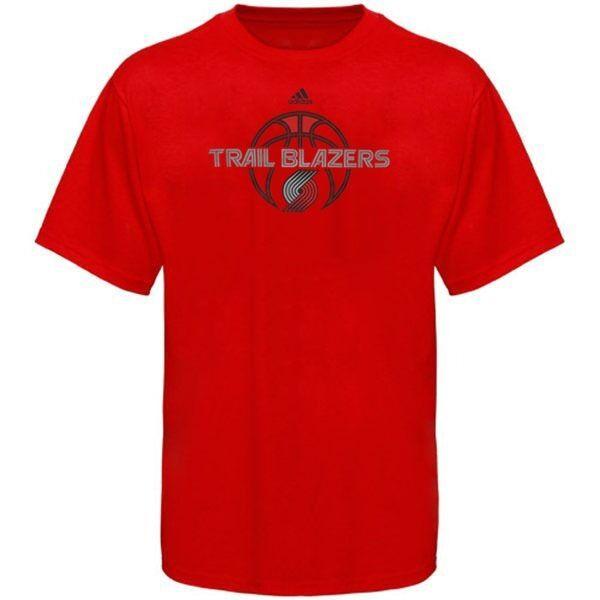 Portland trail blazers adidas nba basketball logo red t for T shirt printing in portland oregon