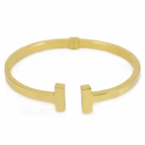 Gold Plated Silver Bangle (new, 7.5 inches, 16g) #2946