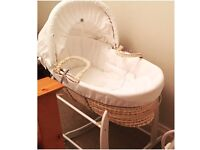 Two Moses baskets plus stands and bedding (��30 each - includes basket, stand and bedding)