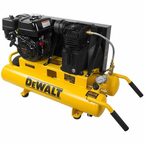 Dewalt 5.5-hp 8-gallon (belt Drive) Gas Wheelbarrow Air Compressor W/ Honda E...