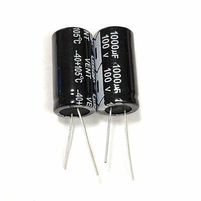 (usa ship) 5pcs 1000uf 100v 18mm×35mm 105c aluminum electrolytic capacitor 100v Aluminum Electrolytic Capacitor