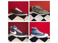 4 pairs of men's size 10 trainers, good condition, Nike converse adidas