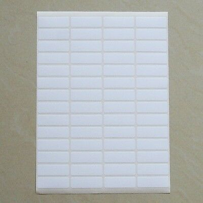 56 Small White Sticky Labels 13x38 Mm Price Stickers Tags Blank Self Adhesive
