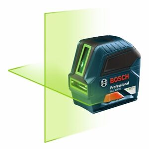Bosch GLL 100-GX Self-Leveling Green-Beam Cross-Line Laser-NEW