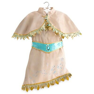 POCAHONTAS Costume Dress Cape Girl Child XS 4 Small DISNEY STORE Indian Princess