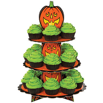 Cupcake Treat Stand Halloween Jack-O-Lantern Wilton (cardboard) No PayPal](Halloween Cupcakes Jack)