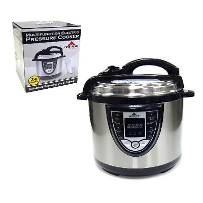 Crystaline 5 in 1 Digital Electric Pressure Cooker Rice Steamer Slow Stainless