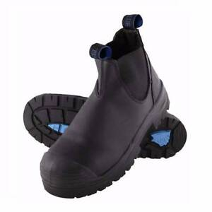 STEEL BLUE HOBART ELASTIC SIDE BLACK SAFETY BOOT with BUMP CAP Lalor Whittlesea Area Preview