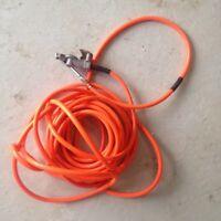 Air pressure hose for truck and pressure gauge