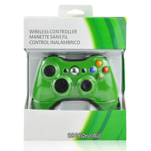 Green-Wireless-Game-Remote-Controller-for-Microsoft-Xbox-360-Brand-New-in-Box