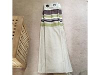 Lovely cotton curtains - Lined & eyelets - Cream Green & Brown 😬