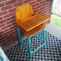 Refinished retro high chair