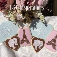 Cookies, cakes, and stencils.