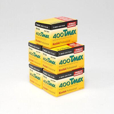 Kodak Professional T-MAX 400ASA 35mm B&W Film - 36 Exposure  - PACK of  5