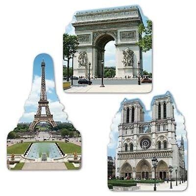 3 French Eiffel Tower Cutouts Decorations Paris France Birthday Wedding - Party Decorations Paris