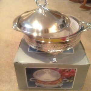 Brand New--3 Piece Silver Plated Casserole