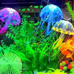 6 colours glowing effect aquarium artificial jellyfish for Aquarium decoration uk