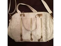 Brand new with tags !! white lace effect handbag