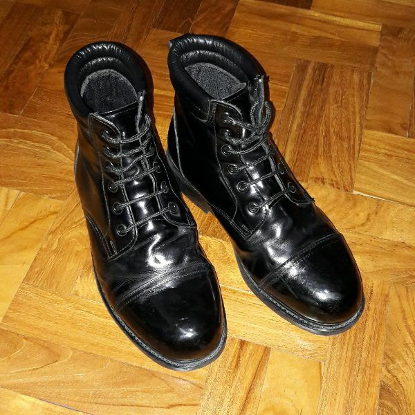 Used Black Leather Boots