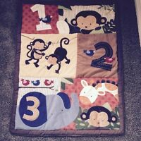 Unisex Jungle toddler or crib bedding