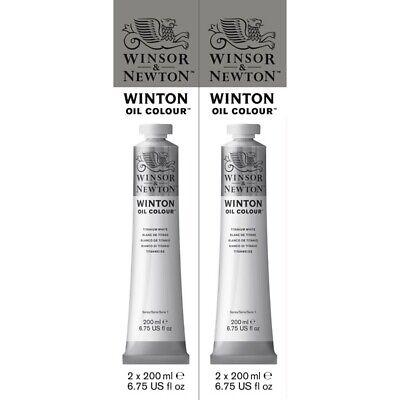 2 Pack Paints (Winsor & Newton Winton Oil Color 200ml Titanium White Pack of)