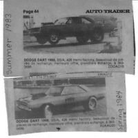 WANTED HISTORY about this MONTREAL based HEMI DART 70s 80s
