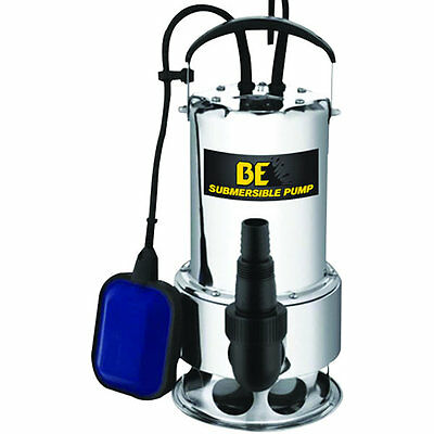 Be St-900sd - 56 Gpm Stainless Steel Submersible Trash Pump W Float Switch