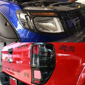 KEVLAR HEAD LIGHT AND TAIL LIGHT LAMP COVER TRIM FOR FORD RANGER XLT 2012 2013+