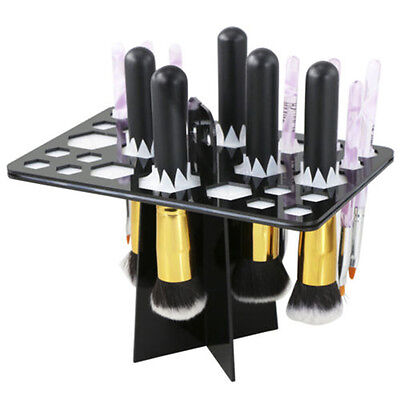 Makeup Brush Organizing Tree Rack Holder Cosmetic Air Drying Folding Collapsible