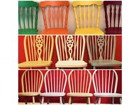 Farmhouse style chairs hand painted to your requirements