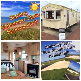 CHEAP STATIC CARAVAN FOR SALE AMAZING SEA VIEW PITCHES AVAILABLE AT CRIMDON DENE NORTH EAST COAST