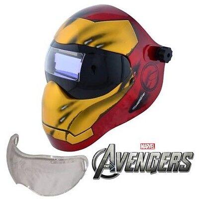 New Save Phace Efp-i Series Welding Helmet Marvel Iron Man 180 49-13 Adf Lens