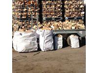 Dry firewood logs