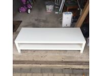 Ikea Lack White TV Stand 150cm Long