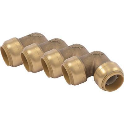 6 Pk Cash Acme Sharkbite 34 In. X 34 In. 90 Degree Brass Elbow U256lfa4