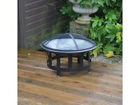 Stylish Outdoor BBQ Fire Pit Heater - NEW (FREE LOCAL DELIVERY)